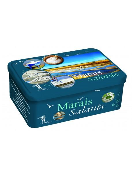 Boite mixte galettes/palets, décor Marais salants, marque « Le Phare »