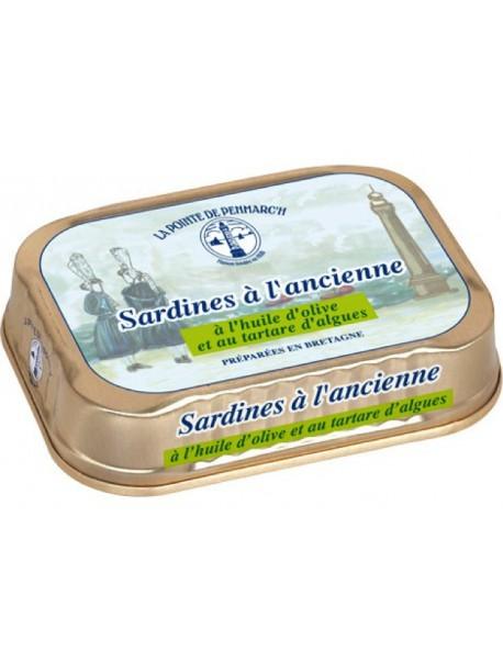 Sardines à l'ancienne à l'huile d'olive et au tartare d'algues  –  La Pointe de Penmarc'h
