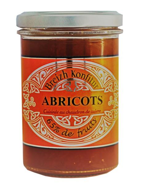 Confiture d'abricots (allégée en sucre), marque « Breizh Konfitur»