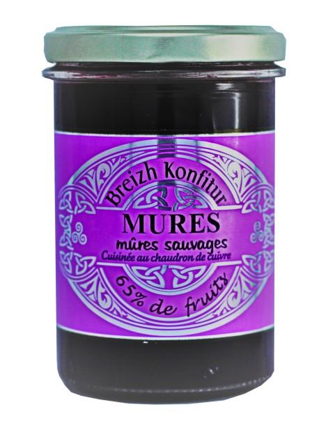 Confiture de mûres sauvages (allégée en sucre), marque « Breizh Konfitur »