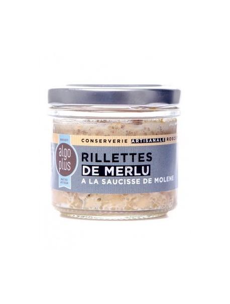 Rillettes de merlu à la saucisse de Molène, marque « Algoplus »