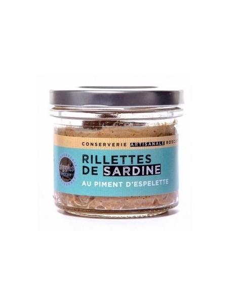 Rillettes de sardines au piment d'Espelette, marque « Algoplus »